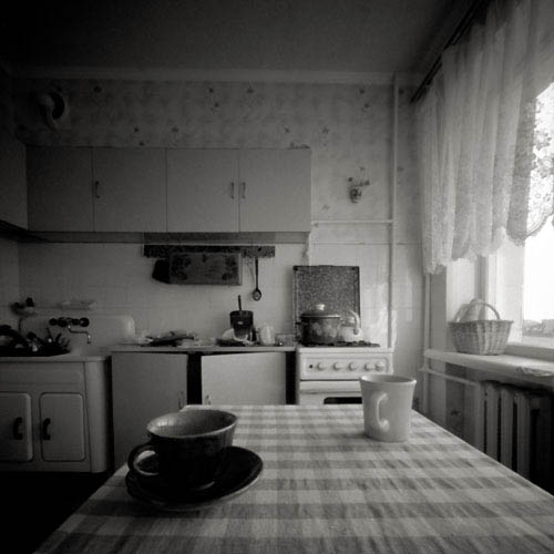 pinhole picture of our kitchen in kiev
